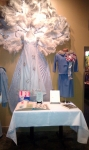 Memorabilia...On the right is the suit worn by Linda Heins Breedlove as Homecoming Queen.  Scrapbooks by Carol Calkins a